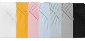 hoeslaken jersey ledikant diverse kleuren