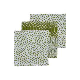 hydrofiel monddoekjes snake stip avocadogroen