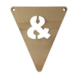 houten vlag &
