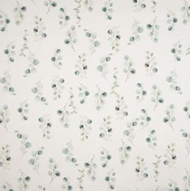 Stof katoen eucalyptustak dusty green