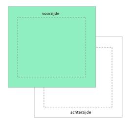 vierkant boxkleed 2-zijdig, vanaf