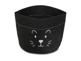 mandje paperbag little lion zwart