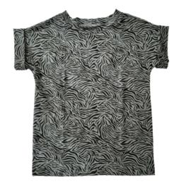 shirtje zebra kakigroen