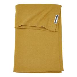 deken fijngebreid honing geel