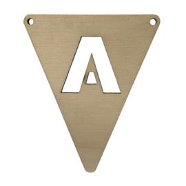 houten vlag A