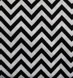 vlag zigzag zwart wit, vanaf