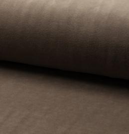 nicky velours stof mud (lichttaupe)
