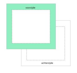 vierkant boxkleed met rand, vanaf