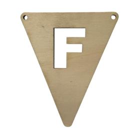 houten vlag F