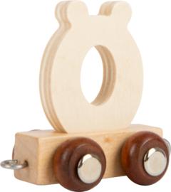houten lettertrein ö naturel