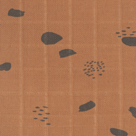 Hydrofieldoeken Spot stip Caramel, 70x70cm