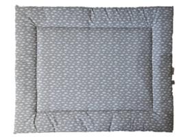 Boxkleed wolk grijs, triangel mint