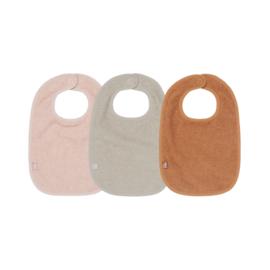 slab 3-pack badstof roze/caramel/nougat