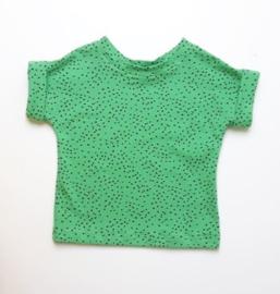shirtje dots groen zwart