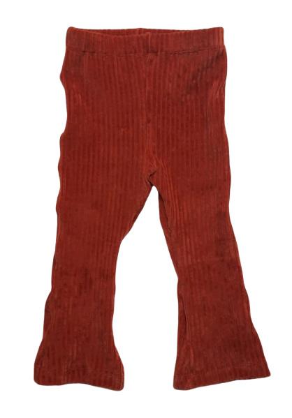 Flared pants, rib roestbruin