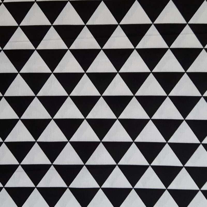 Stof katoen driehoek zwart/wit