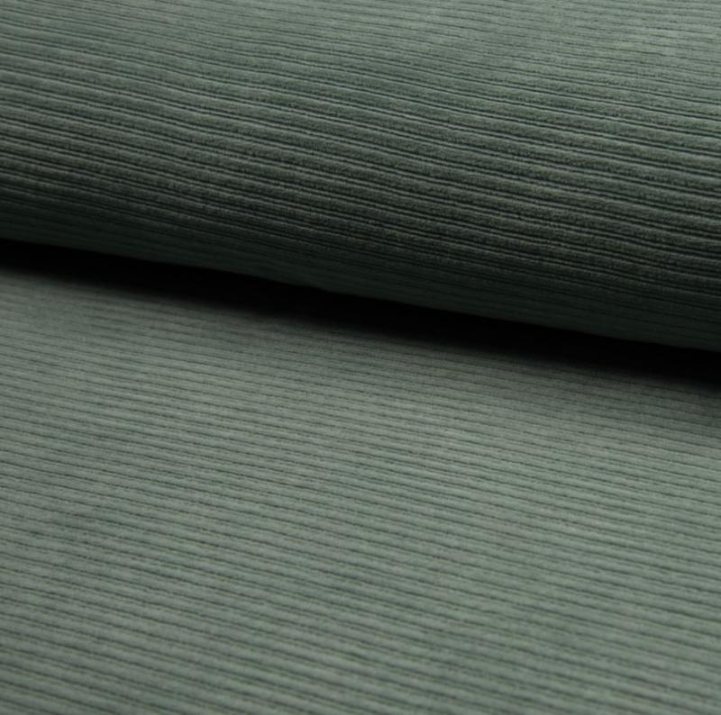velours corduroy stof dusty mint