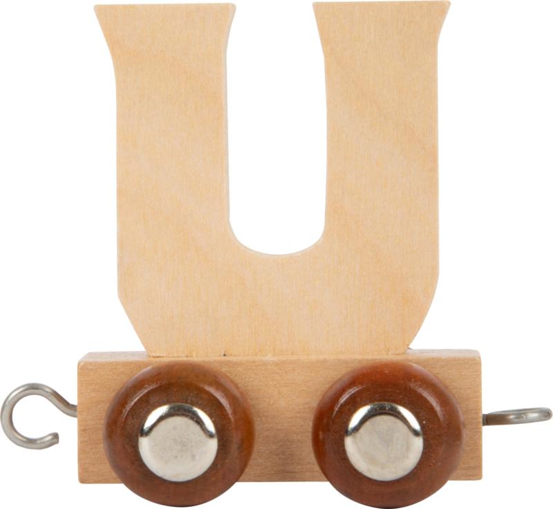 houten lettertrein U naturel