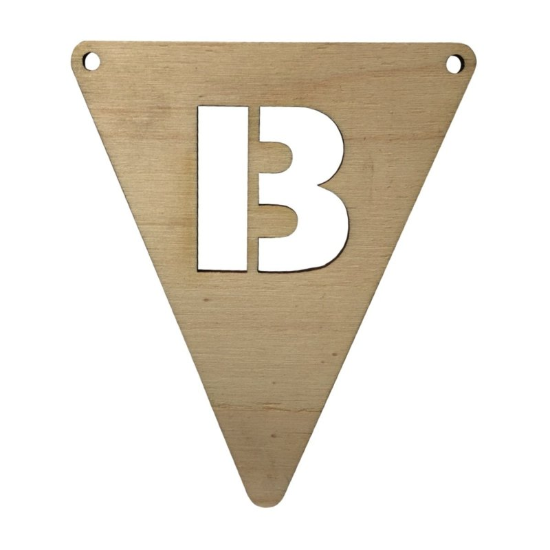 houten vlag B