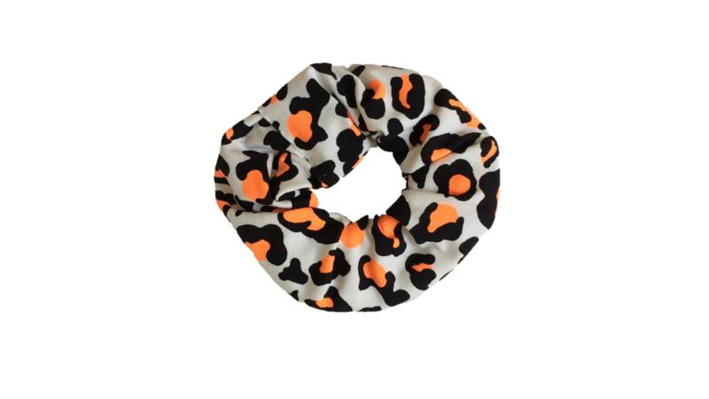 scrunchie panter oranje