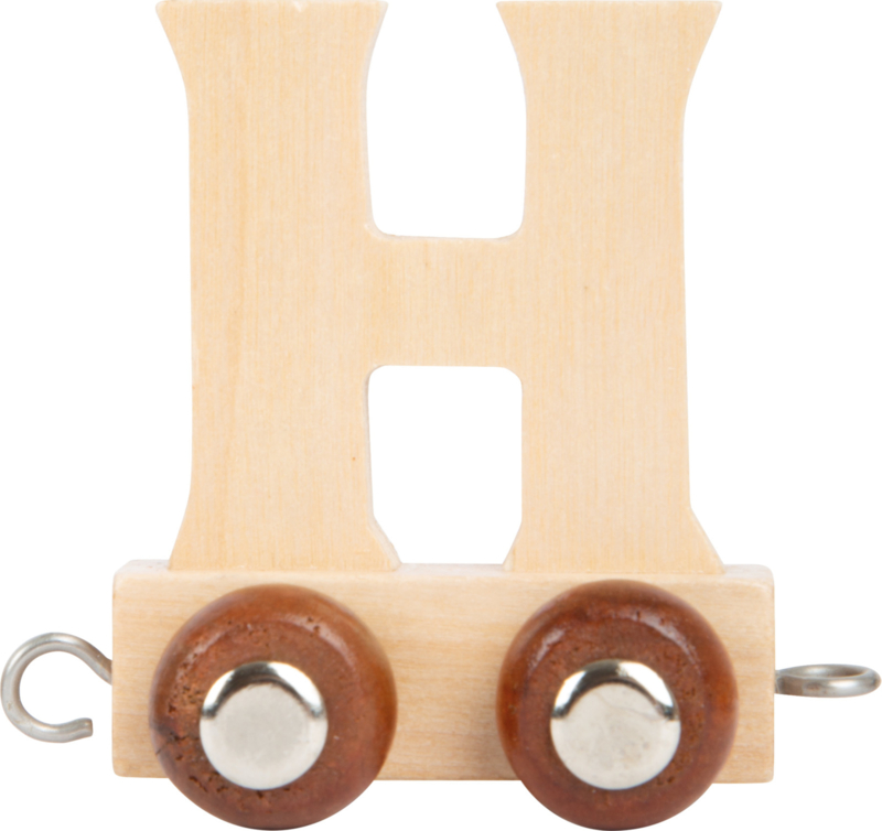 houten lettertrein H naturel