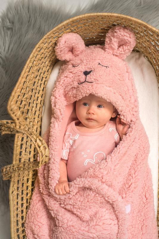 Wikkeldeken Bunny pink