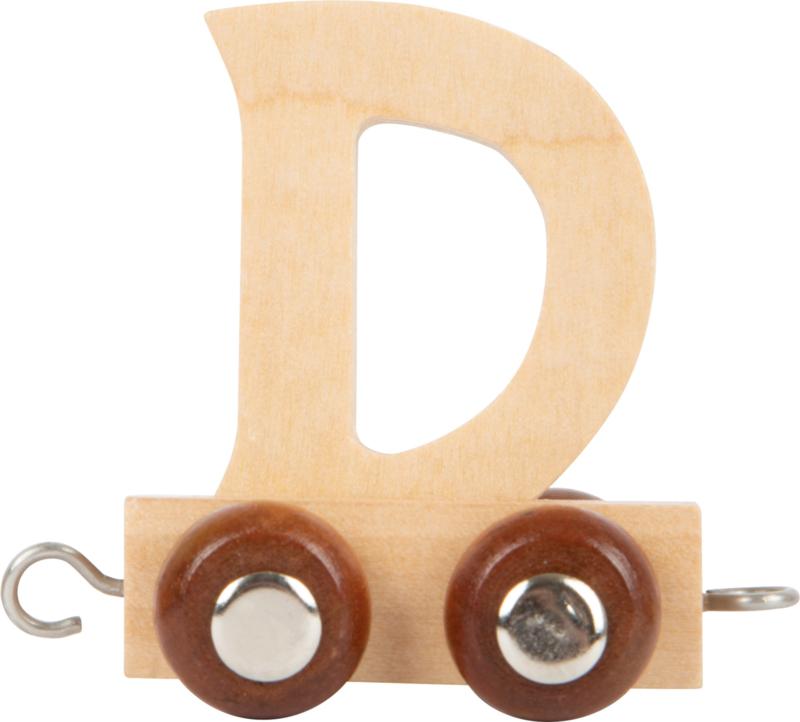 houten lettertrein D naturel