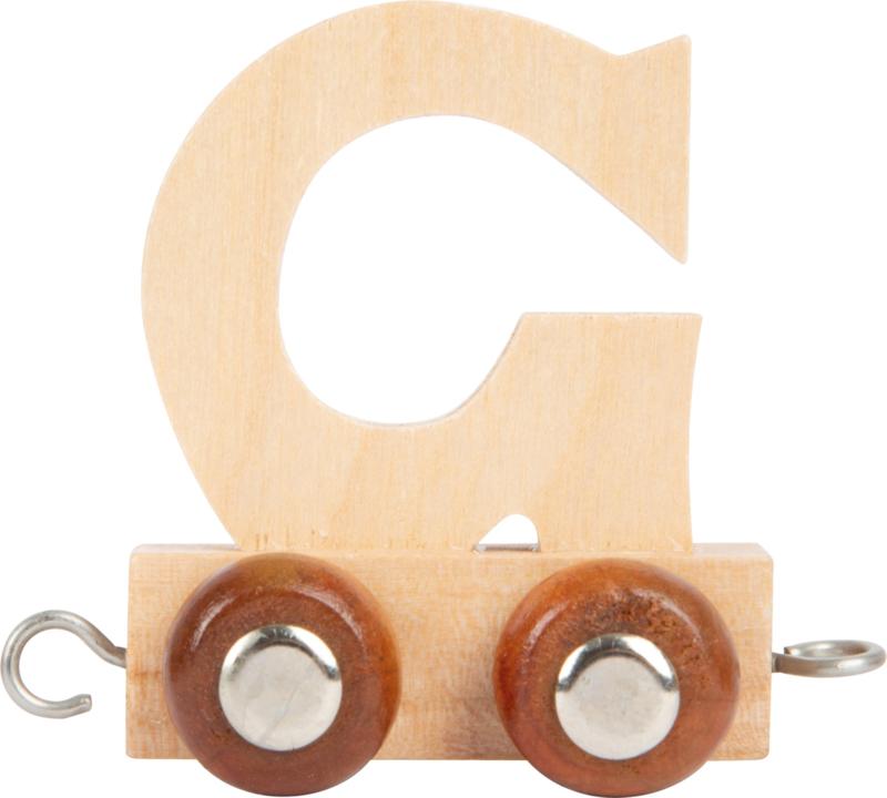 houten lettertrein G naturel