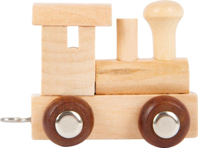 houten locomotief naturel