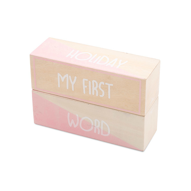 My first moments blocks white/pink (2pcs)