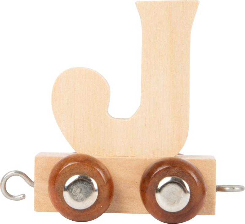 houten lettertrein J naturel