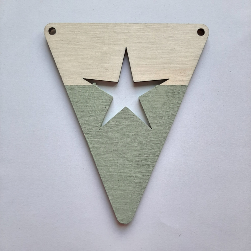 groene houten vlag figuren