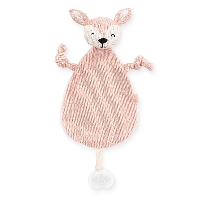 knuffel speendoekje deer pink