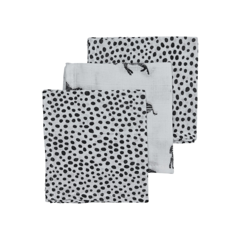 hydrofiel monddoekjes zebra zwart wit