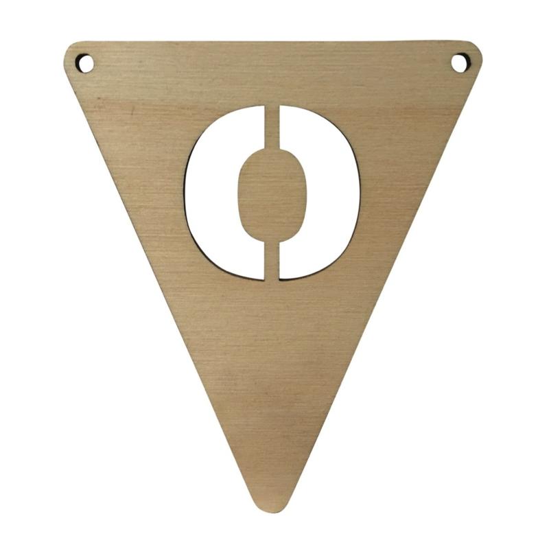 houten vlag O