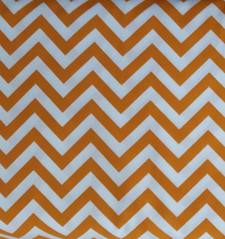 Stof katoen zigzag maisgeel/wit