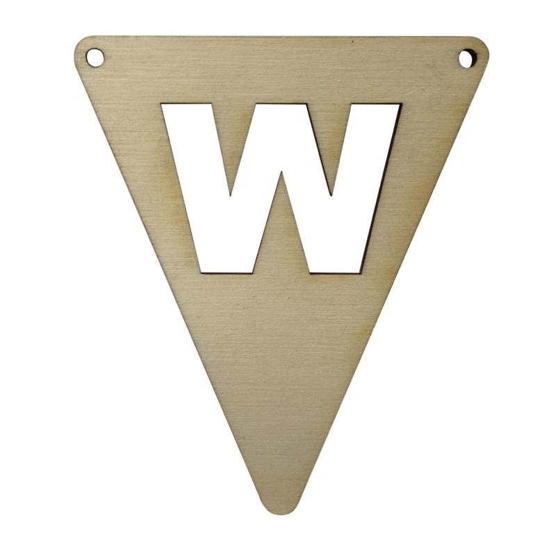 houten vlag W