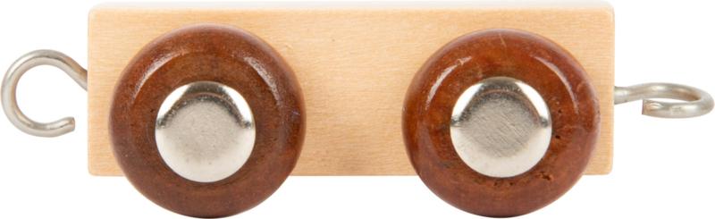 houten tussenwagon lettertrein naturel