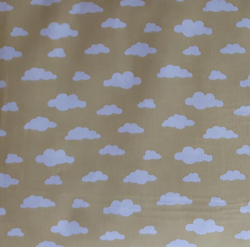 stof wolk zachtgeel