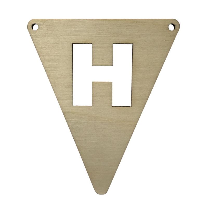 houten vlag H