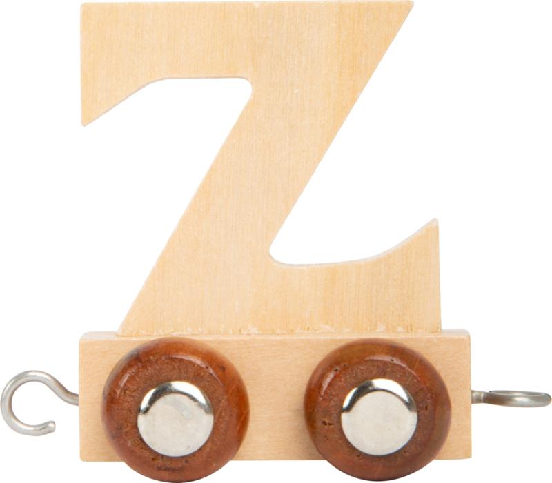 houten lettertrein Z naturel