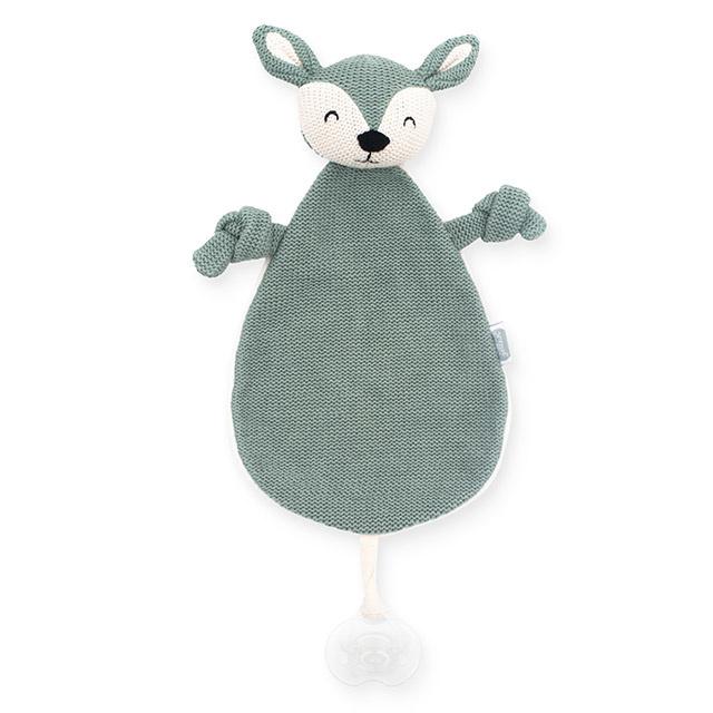 knuffel speendoekje deer ash green