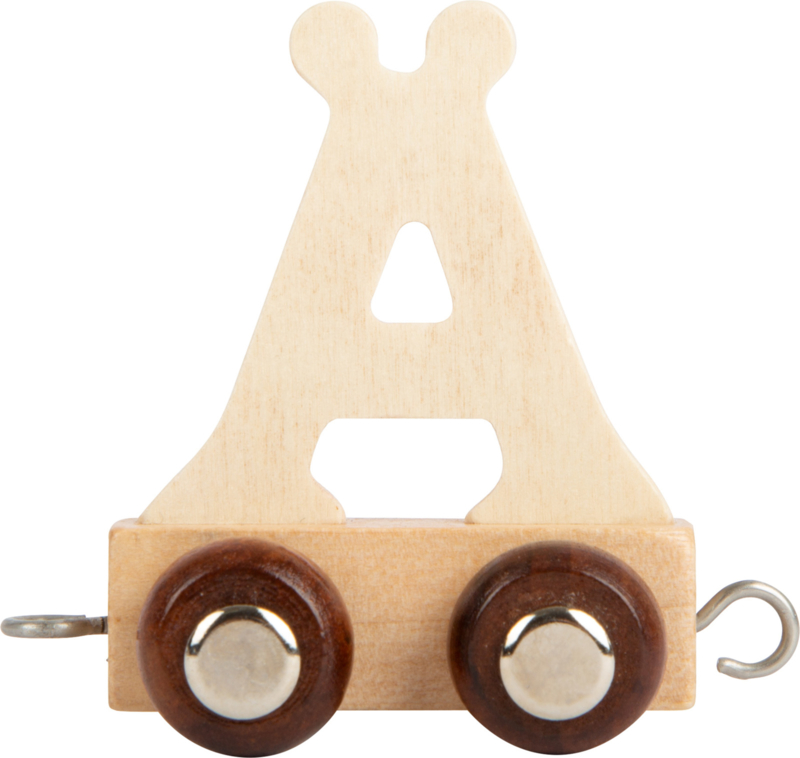 houten lettertrein Ä naturel