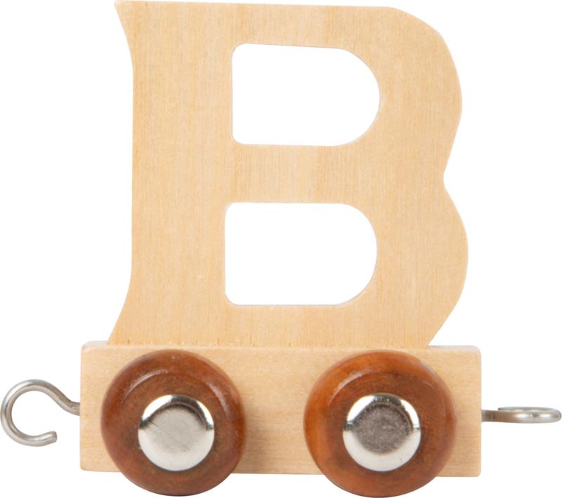 houten lettertrein B naturel