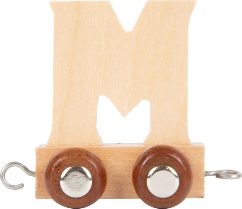 houten lettertrein M naturel
