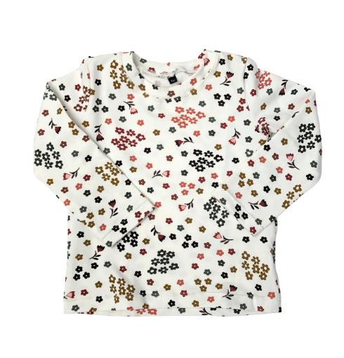 shirtje bloem off-white