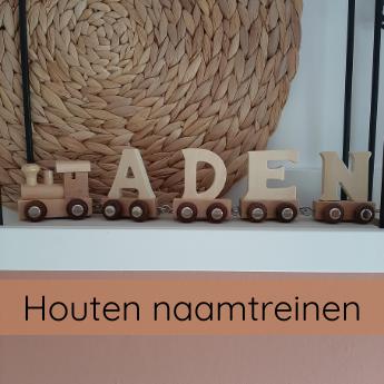 KADO'S EN DECO houten naamtrein lettertrein
