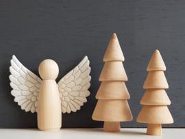 Kerstengel hout