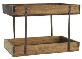 Etagère hout 2 verdiepingen VERWACHT IN MAART