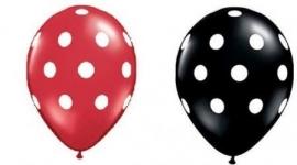 Ballonnen rood wit per 10